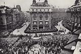 Coronation procession, 1937, Piccadilly Circus, London