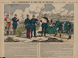 King Wilhelm I of Prussia, Otto von Bismarck and Field Marsha Helmuth von Moltke at the Siege of Paris, …
