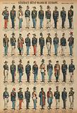 General staff officers and uniforms of armies from around the world
