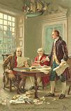 Drafting of the United States Declaration of Independence, Philadelphia, Pennsylvania, 1776