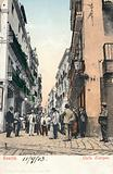 People strolling on the Calle Sierpes, Seville, Spain