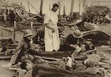 Badly wounded German soldiers receiving treatment after their admission to a British field hospital at Potijze, Ypres, …