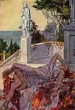Dido commits suicide after being abandoned by Aeneas