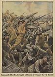 British soldiers in hand to hand combat with Germans on Bastille Day (14 July), Bazentin, France, Battle of the Somme, …