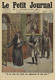 Scorn of a Benedictine nun in the face of Kaiser Wilhelm II of Germany during his visit to the Abbey of Namur in …