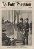 """A woman from Alsace-Lorraine before a German judge in court for shouting """"Vive la France!"""""""
