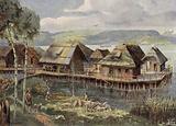 Prehistoric European lake village