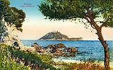 View of Isola Gallinara, Alassio