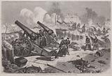 Prussian siege battery in the park of Le Raincy dring the Siege of Paris, Franco-Prussian War, 1871