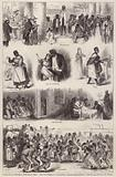 Scenes from a stage adaptation of Harriet Beecher Stowe's novel Uncle Tom's Cabin, performed by a black American …