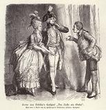 Scene from Friedrich Schiller's comedy Der Neffe als Onkel (The Nephew as Uncle)