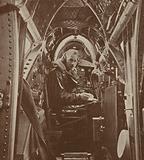 Wireless operator of a British Vickers Wellesley long-range bomber