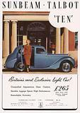 Advertisement for the Sunbeam Talbot Ten car