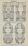 Plans of the Royal Theatre, Wiesbaden and the Municipal Theatre, Rostock, Germany