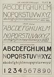 """Line or """"Skeleton"""" letters, upright"""
