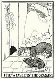 Fables of La Fontaine: The weasel in the granary