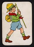 Snap game card: Boy out for a walk