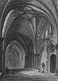 View in the Cloisters, shewing the Entrance to the Chapter House etc, Westminster Abbey
