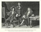 Andre Campra et Antoine Danchet, avec leur ami Bon Boulogne, auteurs de l'Europe galante, ouvrage qui amena la …