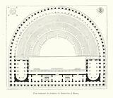 Plan restaure du theatre de Marcellus, a Rome