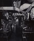 """A view of the engine-room of the RMS """"Mauretania"""""""