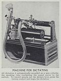 Machine for dictating