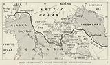 Route of Amundsen's voyage through the North-west Passage