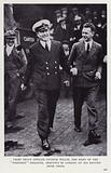 """Chief Petty Officer Patrick Willis, the hero of the """"Poseidon"""" Disaster, arriving in London on his return from China"""