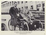 Mr Henry Ford in the first Ford car