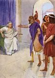 The shepherd telling all he knew about Romulus and Remus