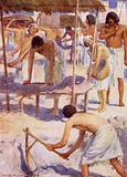 The Israelites making bricks