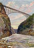 The bridge over the Victoria Falls, Rhodesia