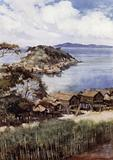 The Island of Elevera from the Mission Station, Port Moresby, British New Guinea
