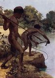 Spearing Fish, British New Guinea
