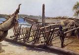Old War Canoes, near Malekula, New Hebrides