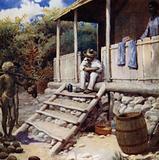 A Trader receiving Cocoa-nuts, Aoba, New Hebrides
