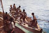 Copra Boys off to the Shore, New Hebrides