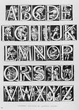 Victoria And Albert Museum: Alphabet designed by Godfrey Sykes