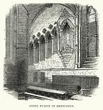 Stone Pulpit in Refectory