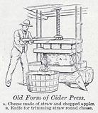Old form of cider press