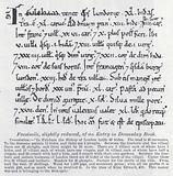 Facsimile, slightly reduced, of an entry in Domesday Book