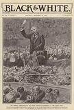 British Liberal Prime Minister Henry Campbell-Bannerman making a speech at the Royal Albert Hall, London