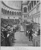 Political crisis in Italy: scene in the Chamber of Deputies in Rome, 1892