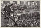 English Particular Baptist preacher Charles Haddon Spurgeon preaching at the Metropolitan Tabernacle, London