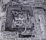 Aerial view of the destruction of the Japanese city of Hiroshima caused by the dropping of the first atomic bomb, …