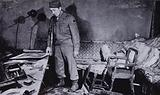 Room in Hitler's bunker beneath the garden of the Reich Chancellery in Berlin, where the Nazi leader and his wife Eva …