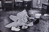 Dead body of Nazi SS leader Heinrich Himmler after he committed suicide, Luneburg, Germany, 23 May 1945