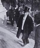 US President William McKinley shortly before his assassination at the Pan-American Exposition in Buffalo, New York, …