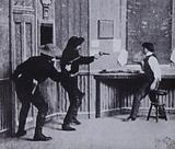 Scene from The Great Train Robbery, one of the earliest Hollywood Western films, 1903