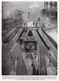 Railway tracks outside St Pancras Station, terminus of the London, Midland and Scottish Railway, London